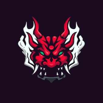 Modèle de conception de logo oni esport