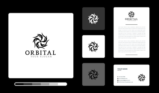 Modèle de conception de logo orbital