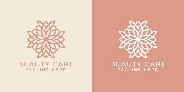 Modèle de conception de logo ornemental mandala de luxe pour l'industrie du spa et du massage