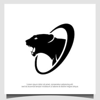 Modèle de conception de logo ours en colère