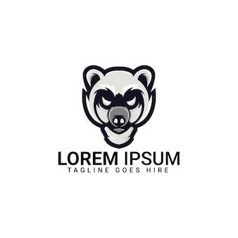 Modèle de conception de logo d'ours