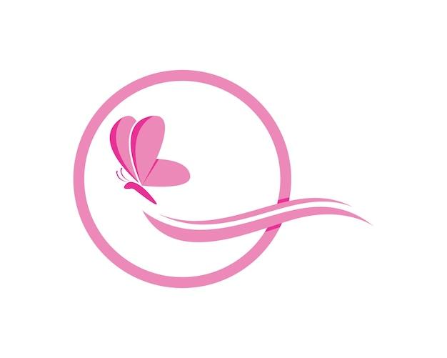 Modèle de conception de logo de papillon