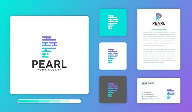 Modèle de conception de logo pearl