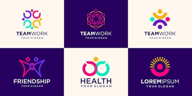 Modèle de conception de logo de personnes créatives