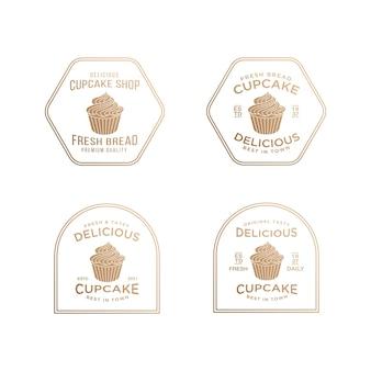 Modèle de conception de logo de petit gâteau