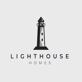 Modèle de conception de logo de phare