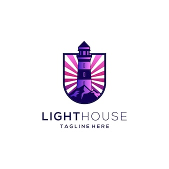 Modèle de conception de logo de phare