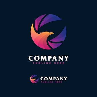 Modèle de conception de logo phoenix
