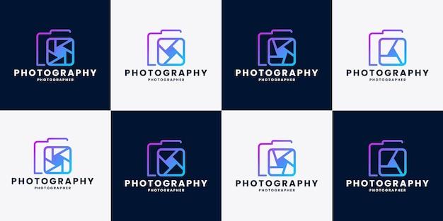 Modèle de conception de logo de photographie de paquet
