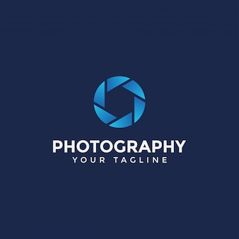 Modèle de conception de logo de photographie simple