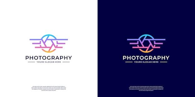 Modèle de conception de logo de photographie