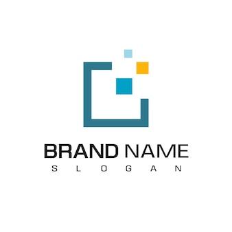 Modèle de conception de logo pixel