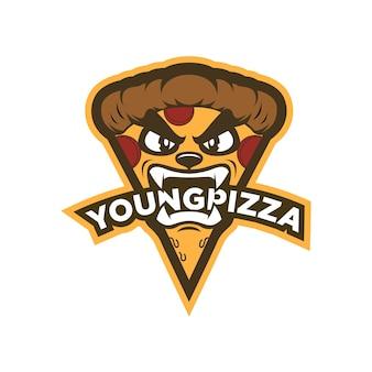 Modèle de conception de logo de pizza