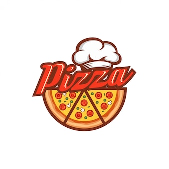 Modèle de conception de logo de pizza