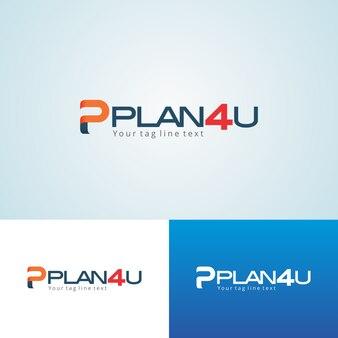 Modèle de conception de logo plan4u