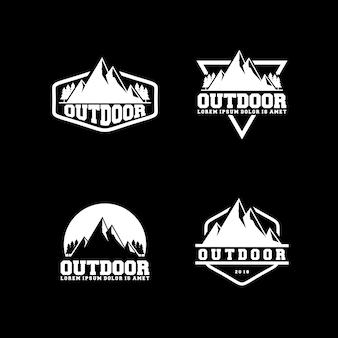 Modèle de conception de logo en plein air