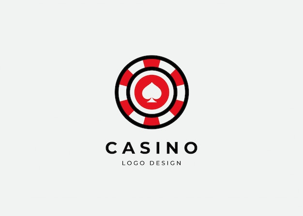 Modèle de conception de logo de poker casino