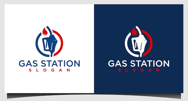 Modèle de conception de logo de pompe à essence
