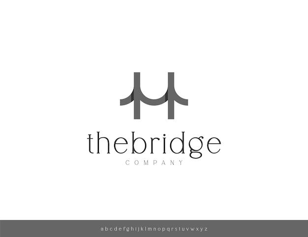 Modèle de conception de logo de pont moderne