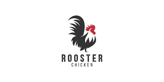 Modèle de conception de logo de poulet bantam à pattes courtes