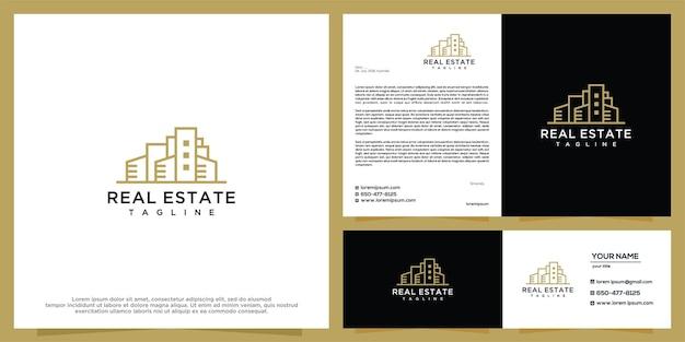 Modèle de conception de logo pour le bâtiment et l'immobilier