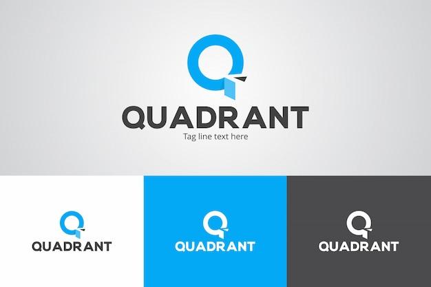 Modèle de conception de logo de quadrant créatif