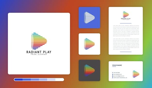 Modèle de conception de logo radiant play