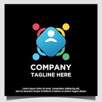 Modèle de conception de logo de relation sociale