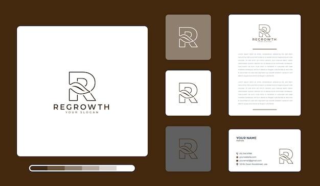 Modèle de conception de logo de repousse