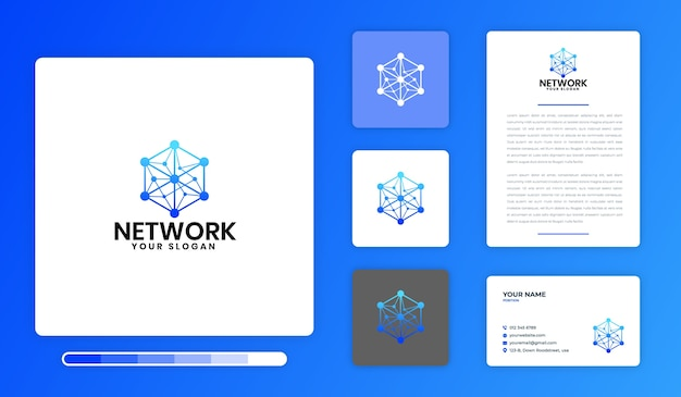Modèle de conception de logo de réseau