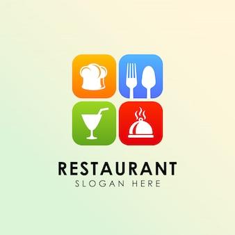 Modèle de conception de logo de restaurant