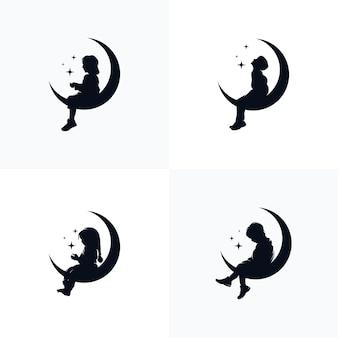 Modèle de conception de logo de rêve d'enfants