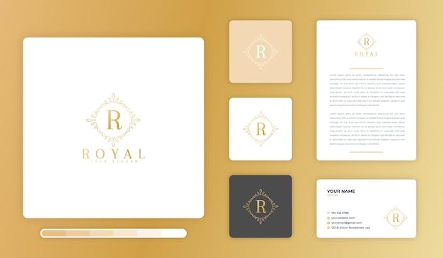 Modèle de conception de logo royal
