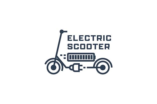 Modèle de conception de logo de scooter électronique