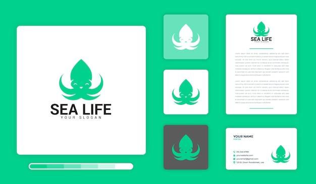 Modèle de conception de logo sea life