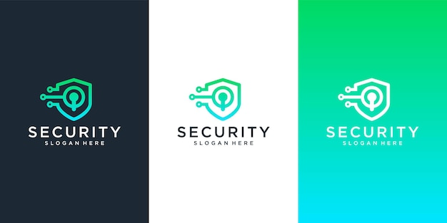 Modèle de conception de logo de sécurité