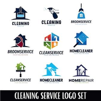 Modèle de conception de logo de service de nettoyage