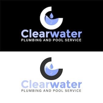 Modèle de conception de logo de service de plomberie d'eau