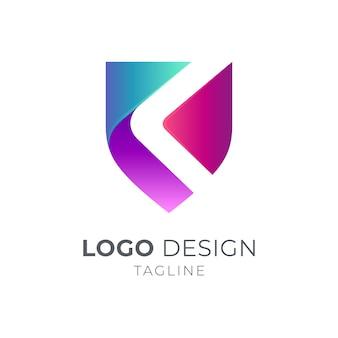 Modèle de conception de logo shield swoosh