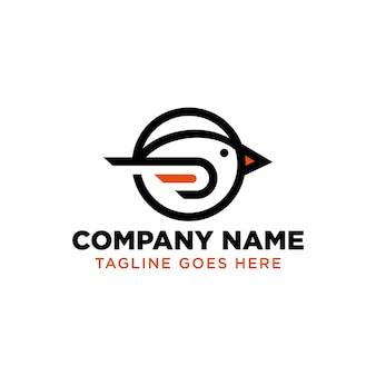 Modèle de conception de logo simply bird line