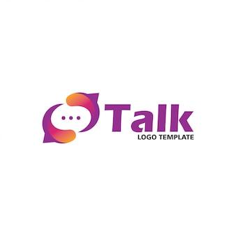 Modèle de conception de logo social talk