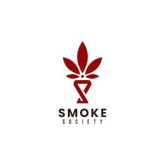 Modèle de conception de logo de société de cannabis