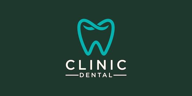 Modèle de conception de logo de soins dentaires de clinique. icône dent abstraite moderne.