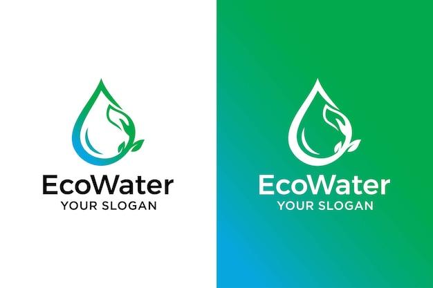 Modèle de conception de logo de soins de l'eau oco