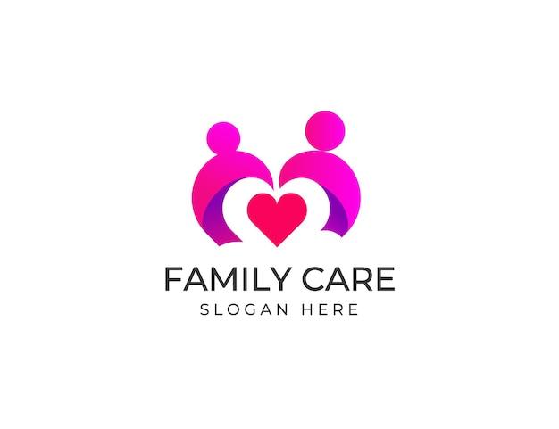 Modèle de conception de logo de soins familiaux