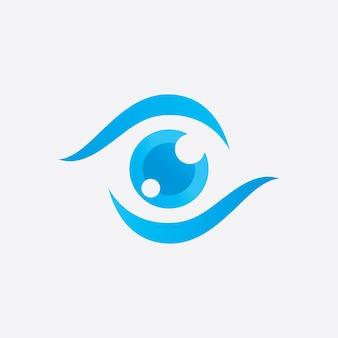 Modèle de conception de logo de soins oculaires créatifs