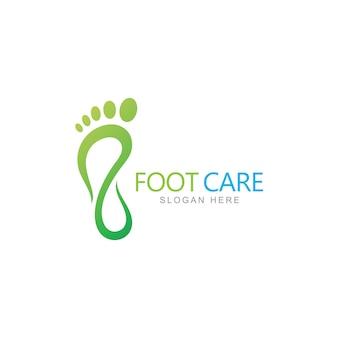 Modèle de conception de logo de soins des pieds