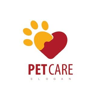 Modèle de conception de logo de soins pour animaux de compagnie