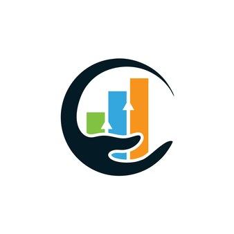 Modèle de conception de logo de soins de statistiques