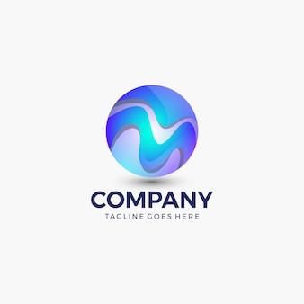 Modèle de conception de logo de sphère abstraite. la technologie . conseil aux entreprises, technologie, science, etc.
